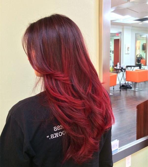 Top 20 Best Balayage Hairstyles For Natural Brown & Black Hair With Long Hairstyles Red Ombre (View 13 of 15)