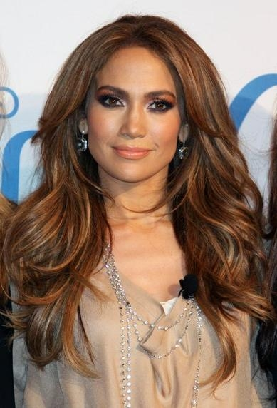 Top 20 Celebrity Long Hairstyles – Page 3 Pertaining To Long Hairstyles Jennifer Lopez (View 15 of 15)