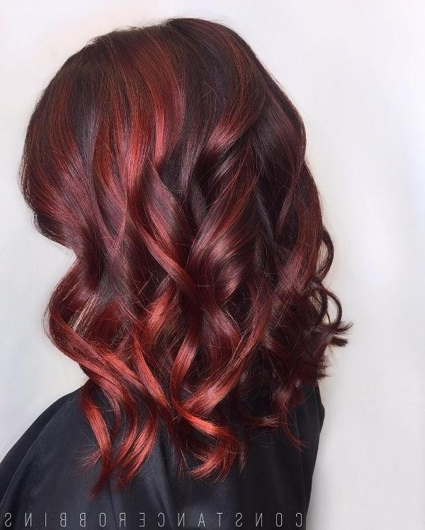 Top 25+ Best Black Hair Red Highlights Ideas On Pinterest | Red Inside Long Hairstyles Red Highlights (View 15 of 15)