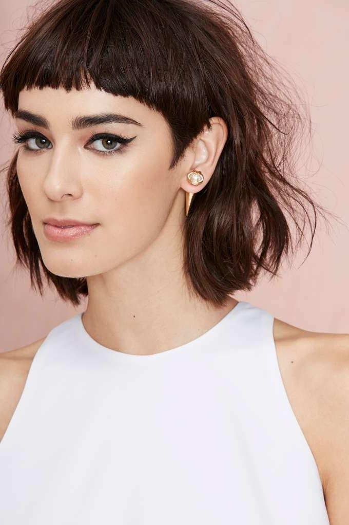 Top 25+ Best Fringe Hairstyles Ideas On Pinterest | Fringes, Side With Long Hairstyles With Short Bangs (View 14 of 15)