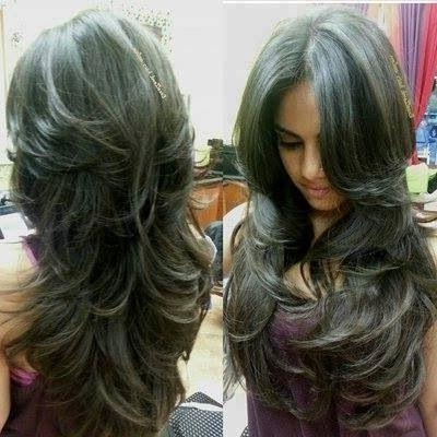 Flowy Long Layers Hairstyle