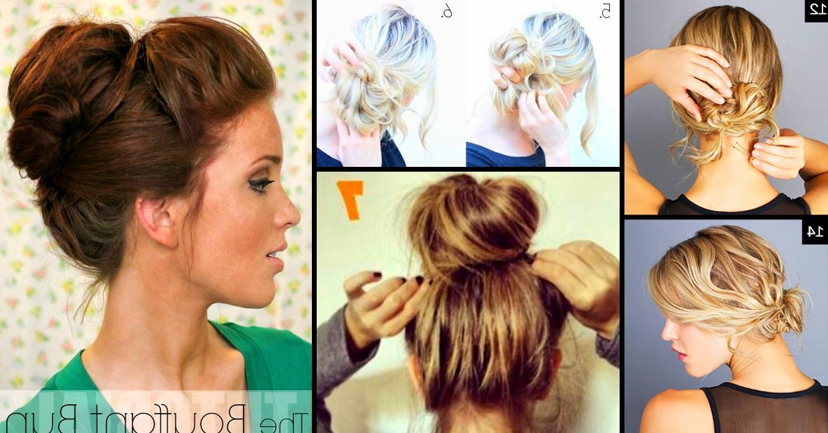 Top 25 Messy Hair Bun Tutorials Perfect For Those Lazy Mornings For Long Hairstyles Buns (View 15 of 15)
