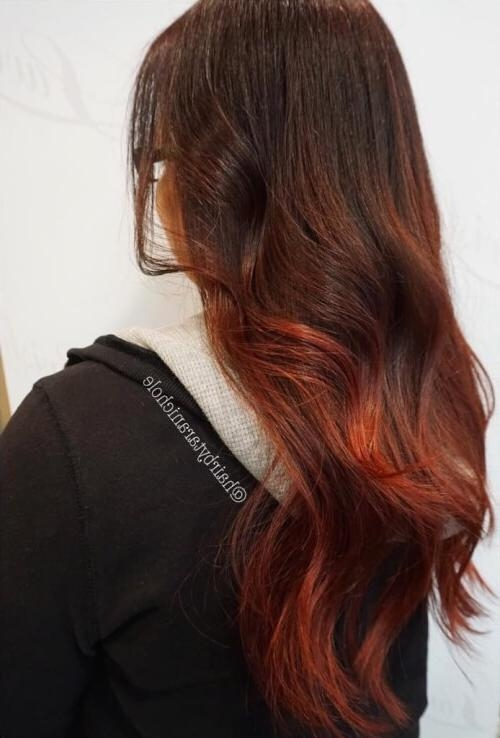 Top 25 Ombre Hair Color Ideas Trending For 2017 For Long Hairstyles Red Ombre (View 14 of 15)