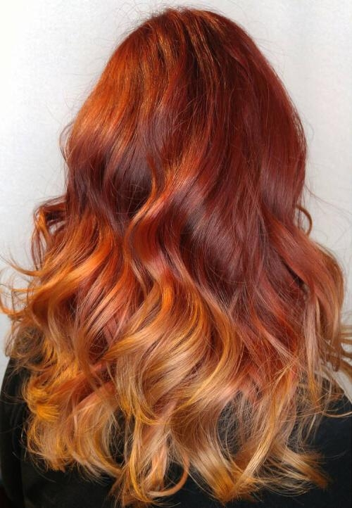 Top 25 Ombre Hair Color Ideas Trending For 2017 With Long Hairstyles Red Ombre (View 15 of 15)