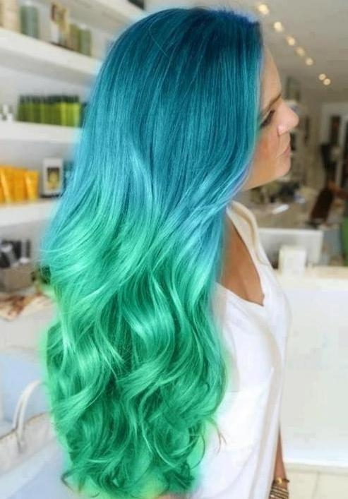 Trendy Hair Color: Ombre Long Hairstyles – Popular Haircuts Intended For Long Hairstyles With Color (View 15 of 15)