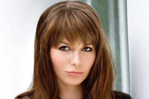 Trendy Ideas For Hairstyles With Bangs In Long Hairstyles Updos With Fringe (View 11 of 15)