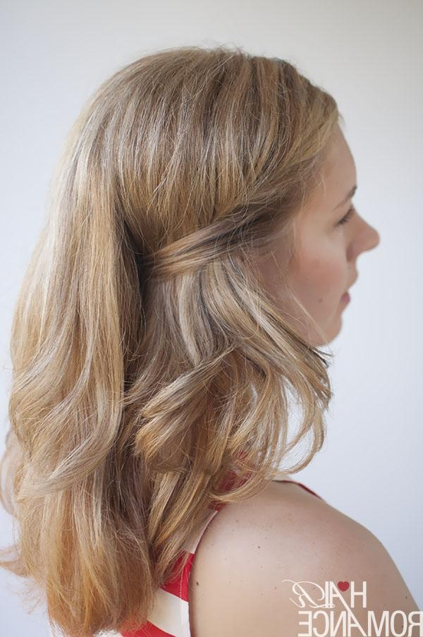 Two Easy Ways To Pin Back Your Hair – Hair Romance Throughout Long Hairstyles Pinned Back (View 15 of 15)