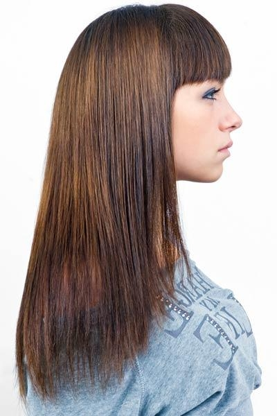 U Shaped Back Long Hair Haircut – From All Angles Pertaining To Long Hairstyles U Shaped (View 9 of 15)