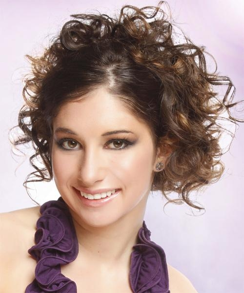 Updo Curly Casual Hairstyle – Medium Brunette | Thehairstyler Within Casual Hairstyles For Long Curly Hair (View 15 of 15)
