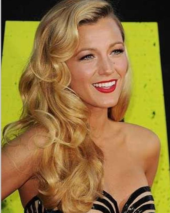 Vintage Hairstyles For Long Blonde Curly And Thick Hair | Cute With Long Hairstyles Vintage (View 14 of 15)