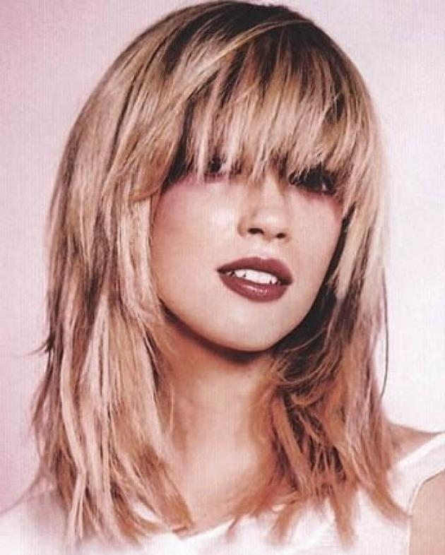 Youthful Look From Medium Hairstyles With Bangs | Hairjos Within Long Youthful Hairstyles (Gallery 1 of 15)