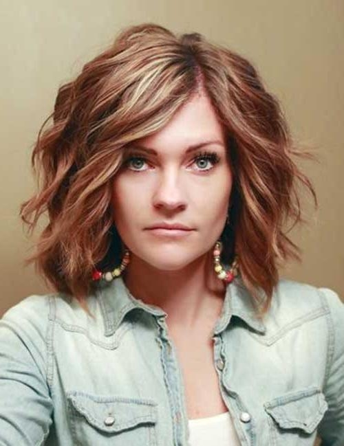 15 Best Ideas Of Medium Short Haircuts For Thick Wavy Hair
