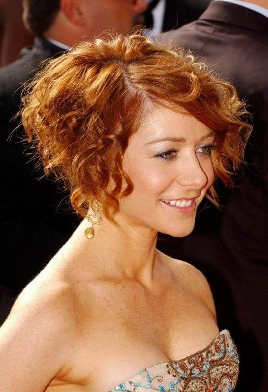 Photo Gallery of Short Haircuts For Women Over 40 With Curly Hair ...