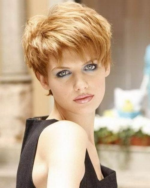 132 Best Proximos Cortes Images On Pinterest | Short Hair Pertaining To Short Hairstyles For Thick Hair  (View 1 of 15)