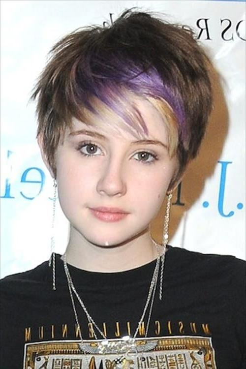143 Best Short Hairstyles Images On Pinterest | Hairstyle, Short Regarding Teenage Girl Short Haircuts (View 12 of 15)