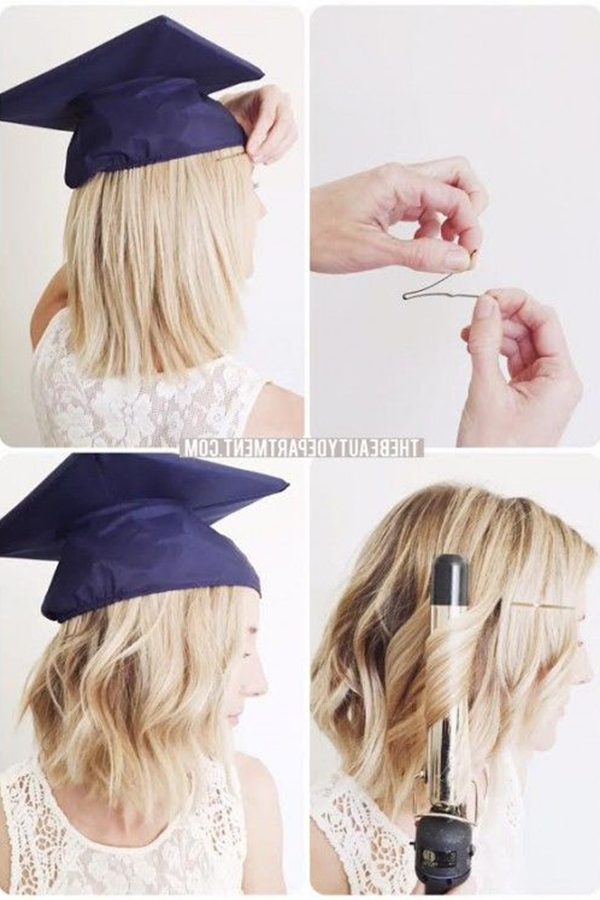 15 Graduation Hairstyles To Wear Under Your Cap | Gurl With Regard To Graduation Short Hairstyles (View 2 of 15)
