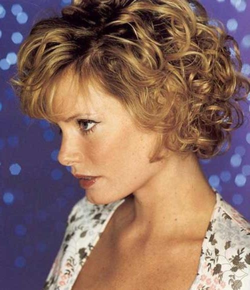 Featured Photo of Short Haircuts For Women Over 40 With Curly Hair