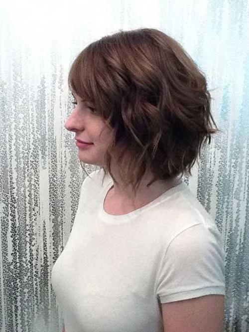 Photo Gallery of Short Hairstyles Thick Wavy Hair (Viewing 13 of ...