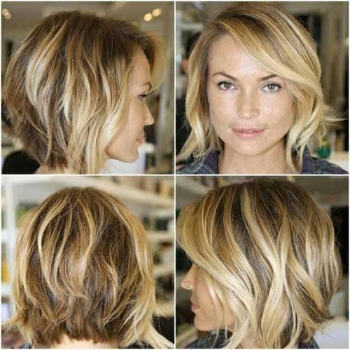Photo Gallery Of Cute Medium Short Hairstyles Viewing 13 Of 15 Photos