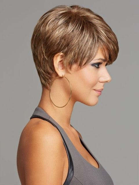 Photo Gallery of Short Haircuts For Fine Hair And Square Face ...