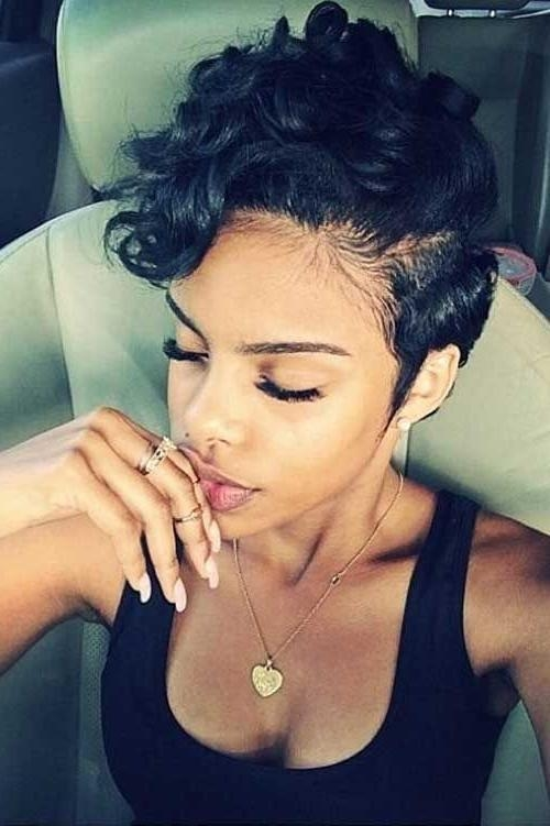 170 Best Short Hairstyles For Black Women Images On Pinterest Inside Short Haircuts For Black Teenage Girls (View 2 of 15)