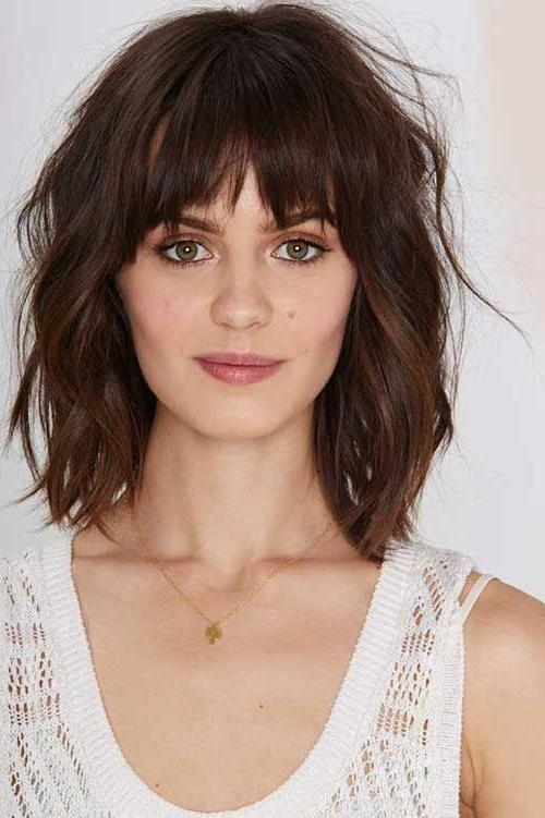 19 Best Medium Textured Hairstyles Images On Pinterest | Hairstyle In Short To Medium Hairstyles With Bangs (View 1 of 15)