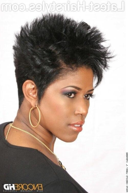 15 Best Ideas of Short Black Hairstyles For Oval Faces