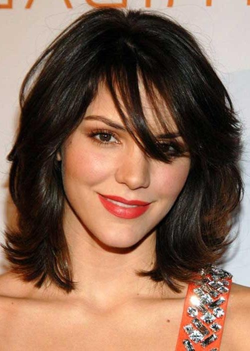 20 Haircuts With Bangs For Round Faces | Hairstyles & Haircuts Throughout Medium Short Haircuts For Round Faces (View 12 of 15)