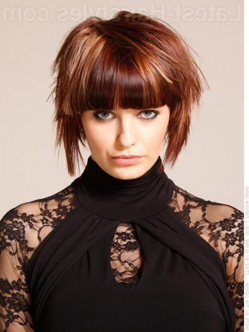 20 Incredible Short Hairstyles For Thick Hair With Regard To Short Hairstyles With Bangs For Fine Hair (View 4 of 15)