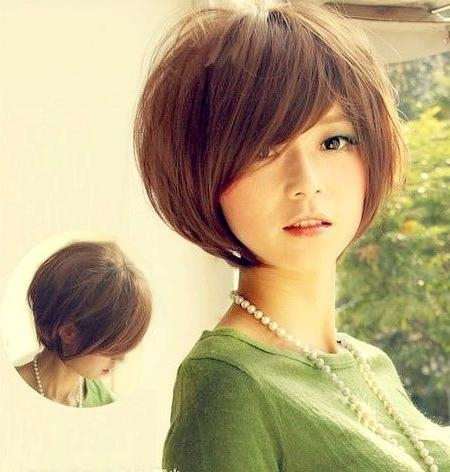 20 Popular Short Hairstyles For Asian Girls – Pretty Designs Regarding Asian Girl Short Hairstyle (View 3 of 15)