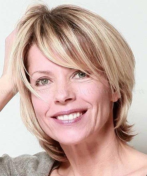 Photo Gallery Of Trendy Short Haircuts For Fine Hair