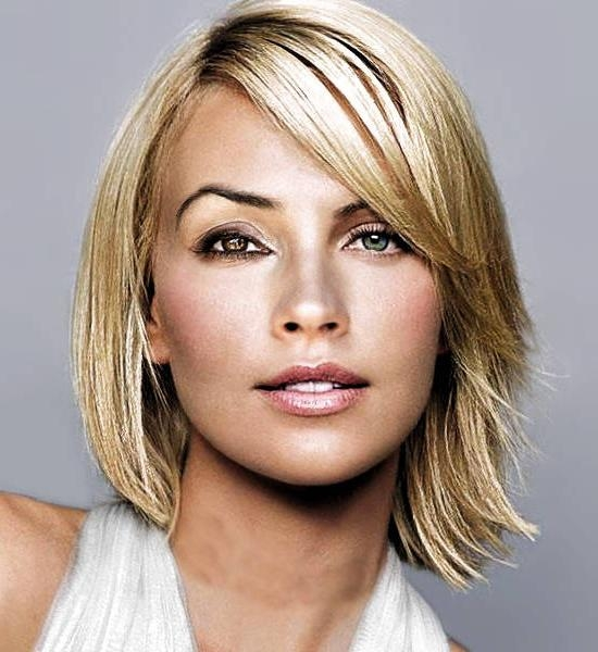 2014 Shoulder Length Hairstyles For Round Face Shapes | Hairstyle Tips Regarding Short Medium Hairstyles For Round Faces (View 6 of 15)