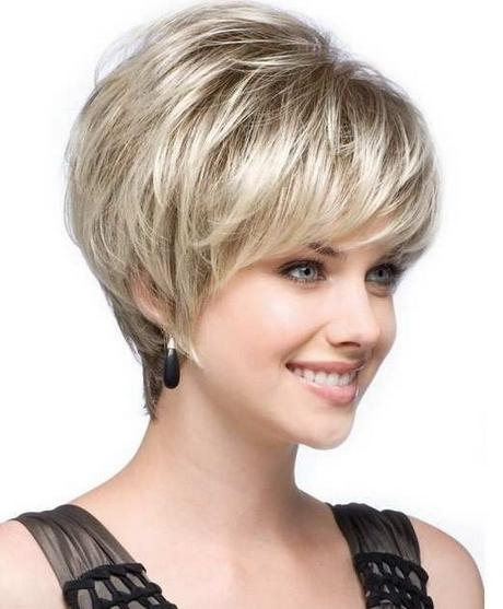 2017 Short Haircuts For Round Faces Inside Short Girl Haircuts For Round Faces (View 5 of 15)