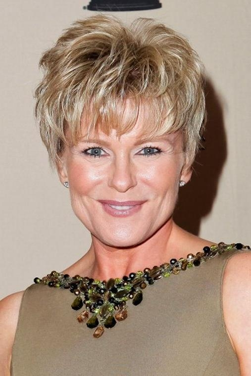 Photo Gallery of Short Layered Hairstyles For Fine Hair Over 50 ...