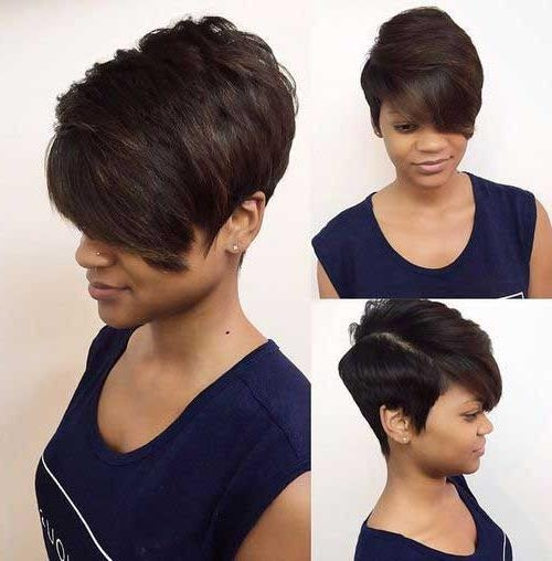 25 Short Bob Hairstyles For Black Women | Bob Hairstyles 2017 For Short Layered Hairstyles For Black Women (View 11 of 15)