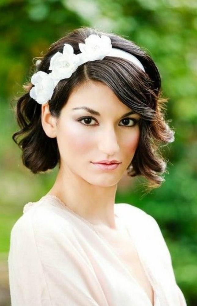 25 Wedding Hairstyles For Short Hair | Brit + Co Pertaining To Brides Hairstyles For Short Hair (View 2 of 15)