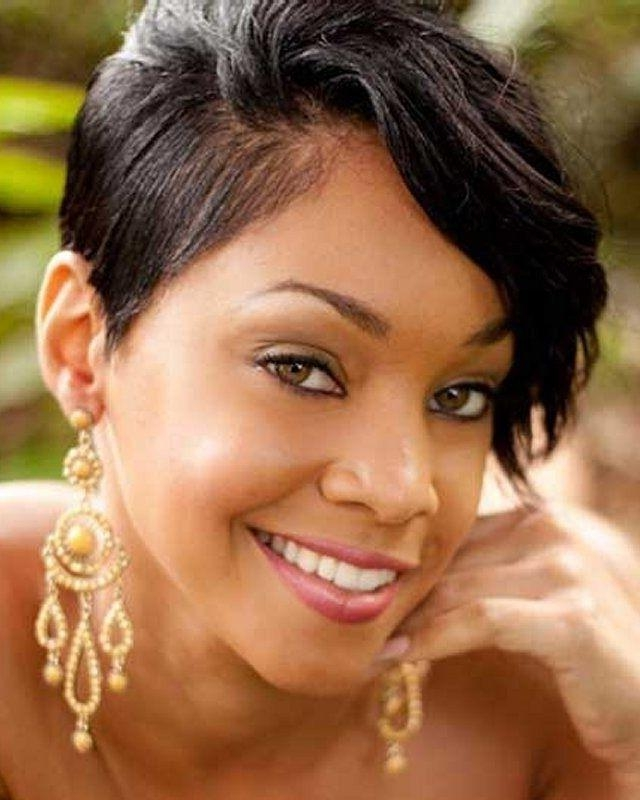 28 Trendy Black Women Hairstyles For Short Hair – Popular Haircuts Intended For Short Black Hairstyles For Oval Faces (View 9 of 15)