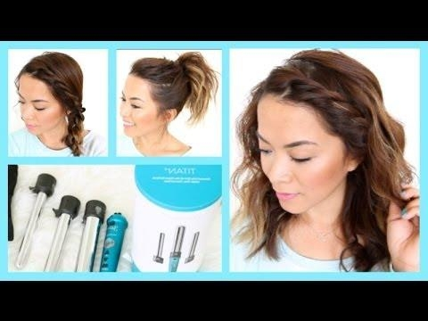 3 Easy Summer Hairstyles For Short Hair ♡ Thatsheart – Youtube Inside Summer Hairstyles For Short Hair (View 13 of 15)