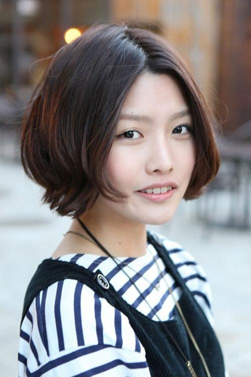 30 Pretty Korean Short Hairstyles For Girls – Cool & Trendy Short Throughout Korean Short Bob Hairstyles (View 6 of 15)