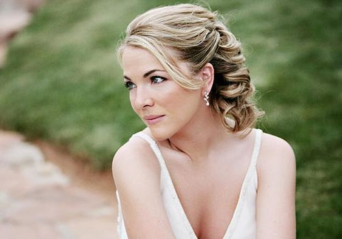 35 Adorable Wedding Hairstyles For Short Hair | Creativefan Intended For Bridal Hairstyles Short Hair (View 14 of 15)