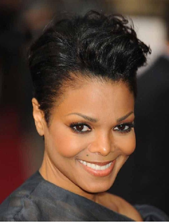 56 Best Short Cuts Images On Pinterest | Hairstyles, Hairstyles Intended For Short Haircuts For Black Women With Round Faces (View 6 of 15)