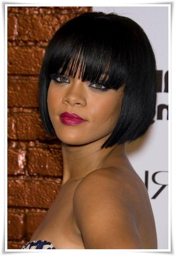 72 Short Hairstyles For Black Women With Images [2017 Intended For Short Black Bob Haircuts (View 10 of 15)