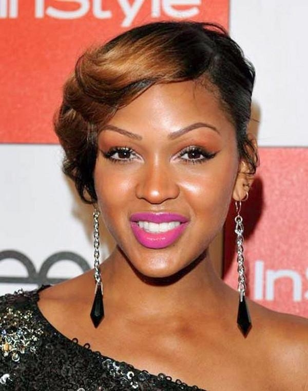 Photo Gallery Of Short Haircuts For Black Women With Round Faces