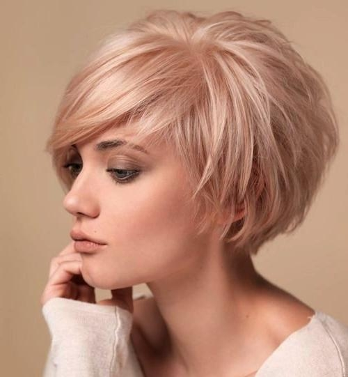 Photo Gallery of Short Hairstyles With Bangs For Fine Hair (Viewing ...