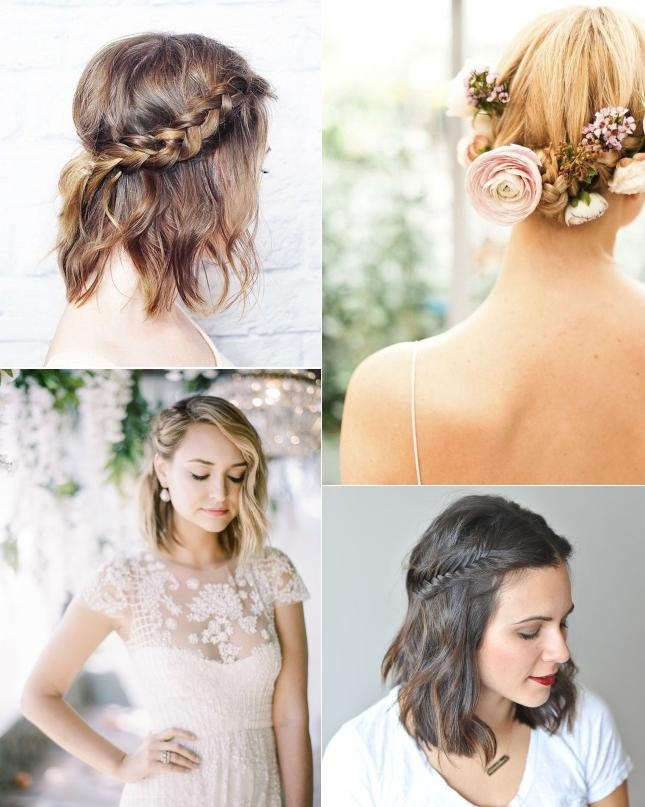 9 Short Wedding Hairstyles For Brides With Short Hair | Confetti (View 3 of 15)