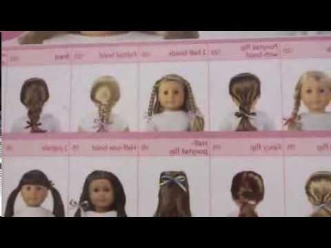 American Girl Doll Hair Salon Styles – Youtube Regarding Cute American Girl Doll Hairstyles For Short Hair (View 12 of 15)