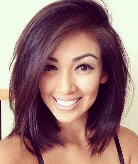 Best 10+ Round Face Hairstyles Ideas On Pinterest | Hairstyles For Throughout Medium Short Haircuts For Round Faces (View 9 of 15)