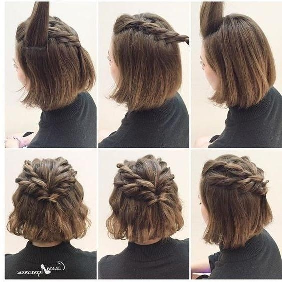 Best 10+ Short Prom Hair Ideas On Pinterest | Short Bridesmaid With Regard To Homecoming Short Hair Styles (View 7 of 15)