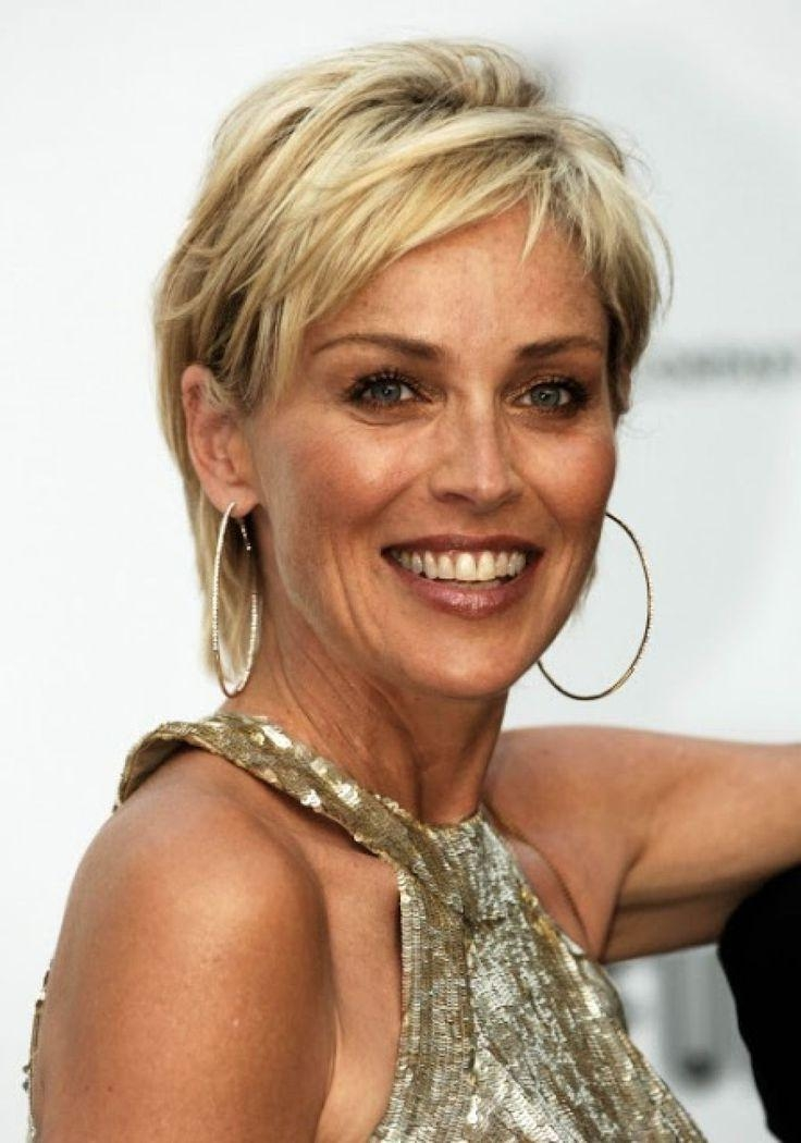 Best 20+ Sharon Stone Hairstyles Ideas On Pinterest | Sharon Stone Regarding Short Hair 50 Year Old Woman (View 6 of 15)