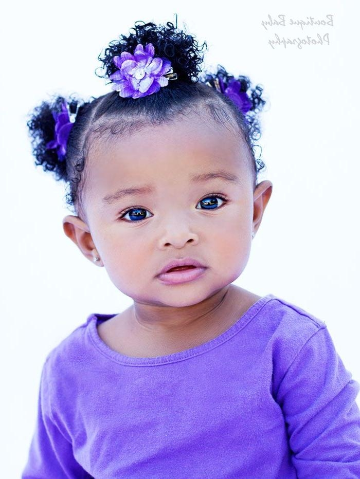 Best 25+ Black Baby Girl Hairstyles Ideas On Pinterest | Natural Regarding Black Baby Hairstyles For Short Hair (View 5 of 15)